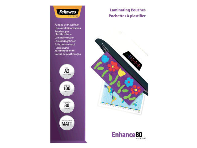 LAMINEERHOES FELLOWES A3 2X80MICRON MAT 2