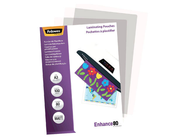 LAMINEERHOES FELLOWES A3 2X80MICRON MAT 3