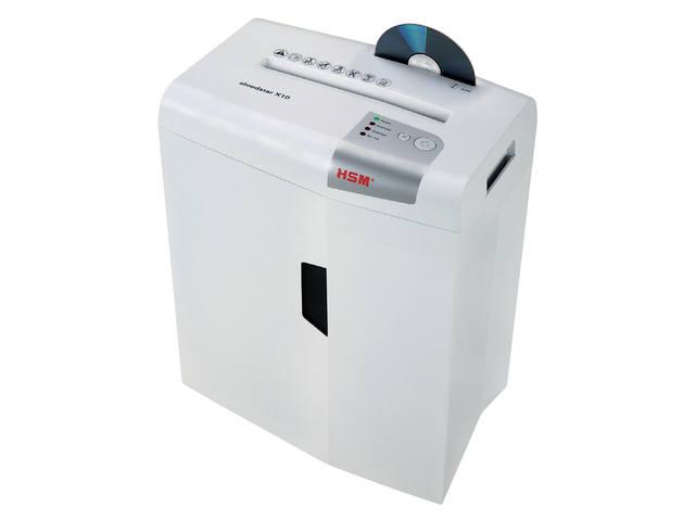 PAPIERVERNIETIGER HSM SHREDSTAR X10 4.5X30MM + CD