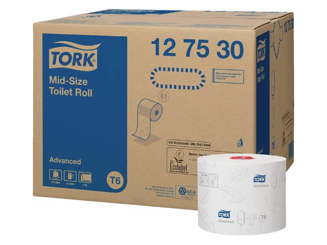 TOILETPAPIER TORK T6 MID-SIZE 2LAAGS ADVANCED 27 ROL 127530 4