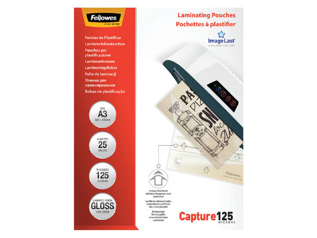 LAMINEERHOES FELLOWES A3 2X125MICRON 1