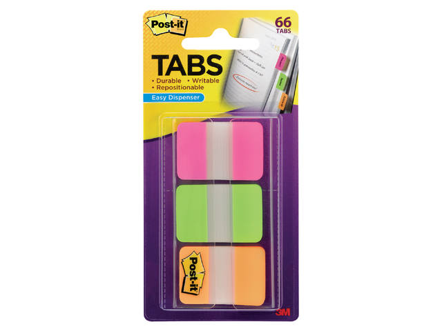 INDEXTABS 3M POST-IT 686PGO STERK 25MM ASS