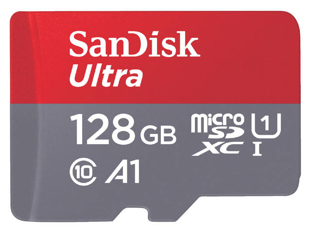 GEHEUGENKAART SANDISK MICRO SDXC ANDROID 128GB CL10