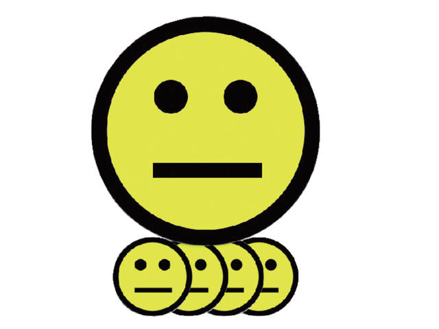 MAGNEET SMILEY 7.5CM EMOTIE NEUTRAAL GEEL