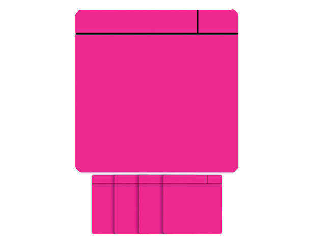 MAGNEET SCRUM 75MMX75MM ROZE