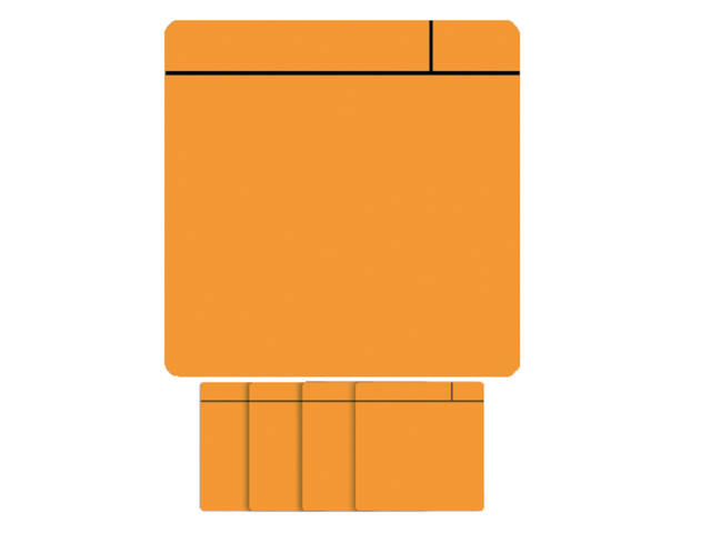 MAGNEET SCRUM 75MMX75MM ORANJE