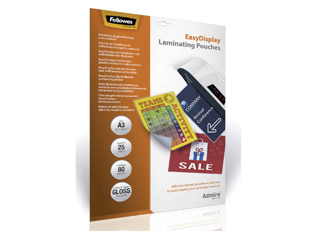 LAMINEERHOES FELLOWES EASYDISPLAY A3 2X80MICRON