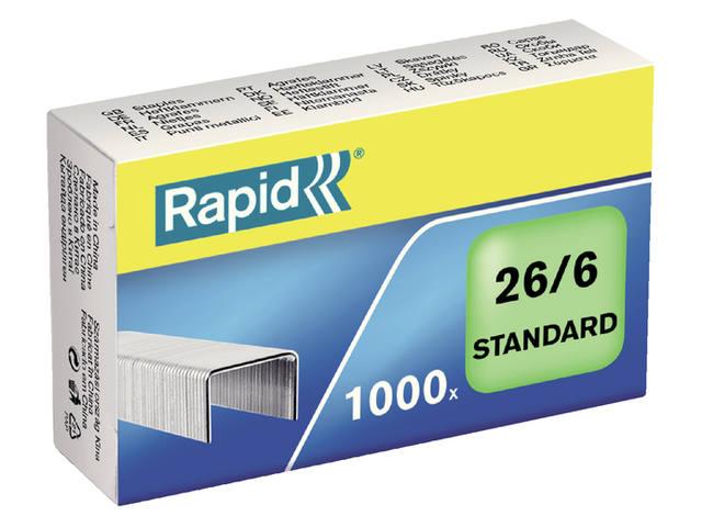 NIETEN RAPID STANDAARD 26/6 GEGALV 1000ST