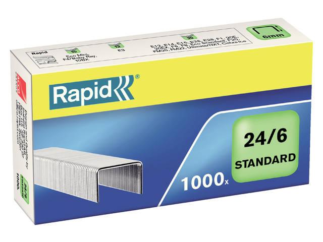 NIETEN RAPID 24/6 GEGALV STANDAARD 1000ST