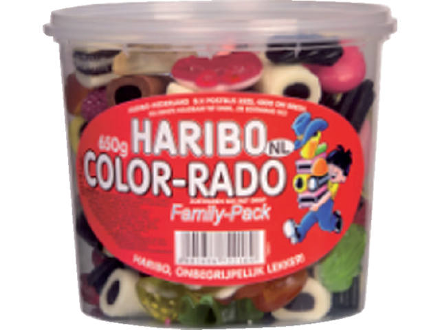 COLORADO HARIBO 650GR WINE GUM + ENGELSE DROP