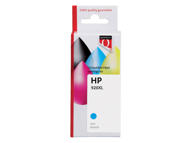 INKCARTRIDGE QUANTORE HP 920XL CD972AE HC BLAUW 1