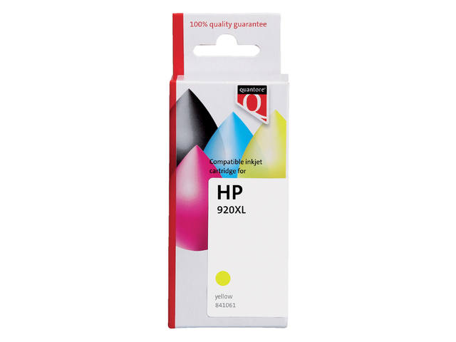 INKCARTRIDGE QUANTORE HP 920XL CD974AE HC GEEL