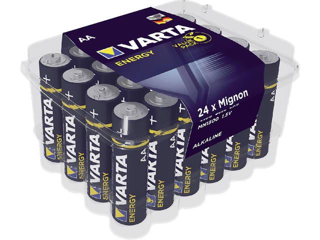 BATTERIJ VARTA ENERGY AA 24 PACK