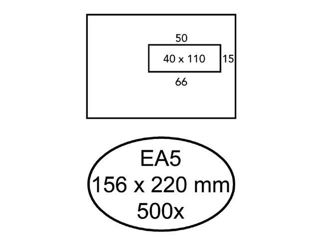 ENVELOP HERMES VENSTER EA5 VR 4X11 ZK 80GR 500ST