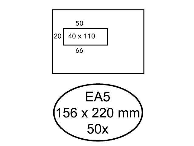 ENVELOP HERMES BANK DIGITAL-50 EA5 VL STR 90GR WIT