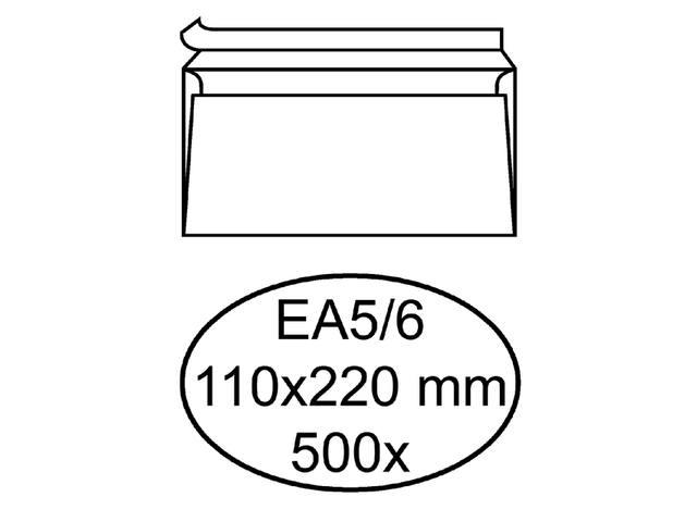 ENVELOP HERMES BANK EA5/6 110X220 ZK 80GR 500ST WT