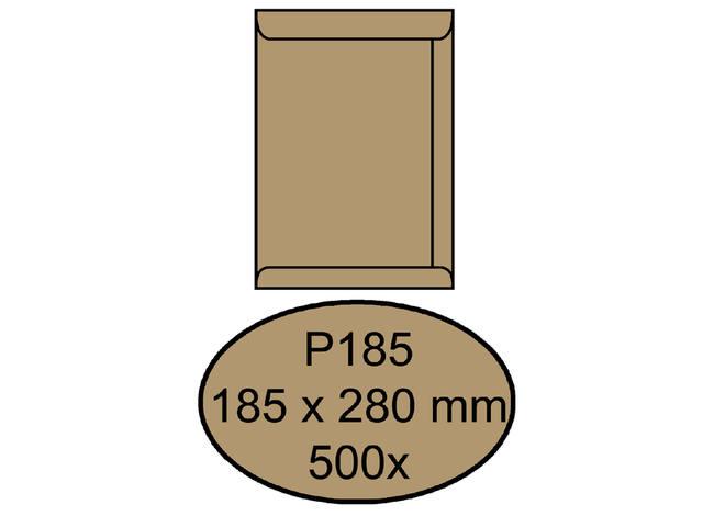 ENVELOP QUANTORE AKTE P185 185X280 90G BRUINKRAFT