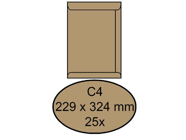 ENVELOP CLEVERMAIL AKTE C4 229X324 80GR 25ST BRUIN