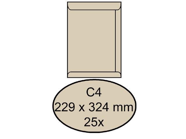ENVELOP CLEVERMAIL AKTE C4 229X324 120GR 25ST CREME 1