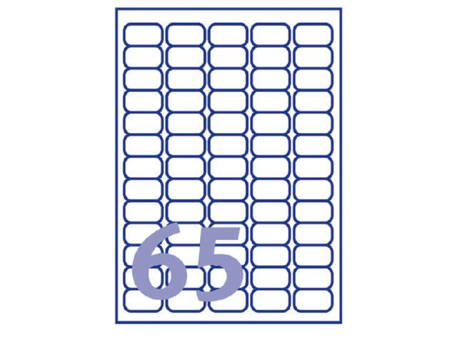 ETIKET AVERY L7651Y-100 38.1X21.2MM NEON GEEL 2