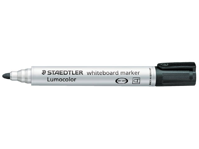 VILTSTIFT STAEDTLER 351 WHITEBOARD ROND 2MM ZWART