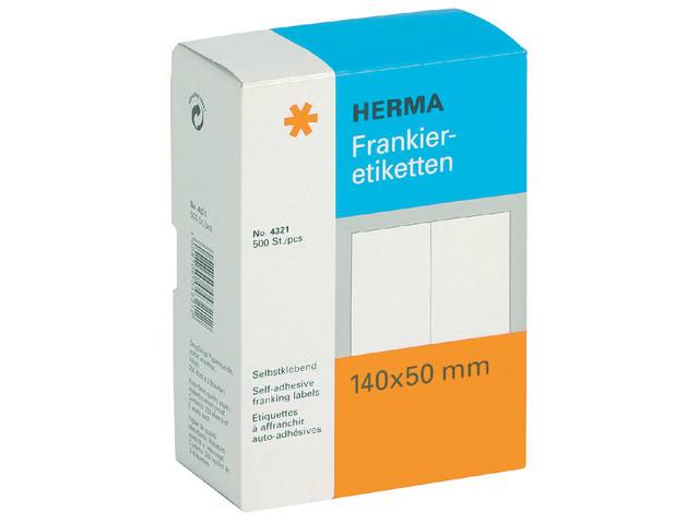 ETIKET HERMA FRANKEER 4321 140X50MM DUBBEL 500ST
