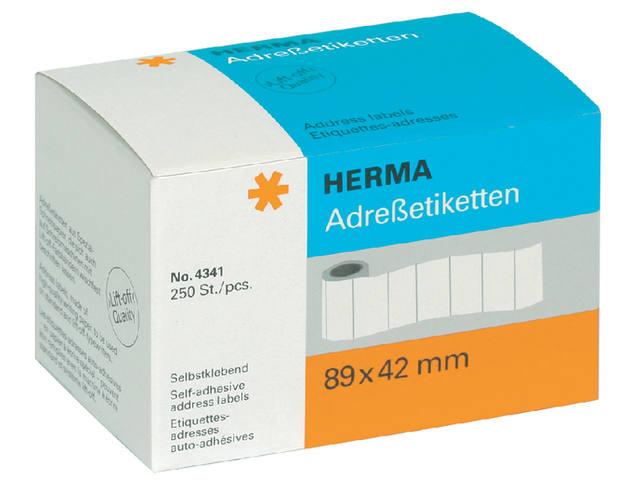 ETIKET HERMA ADRES 4341 89X42MM 250ST