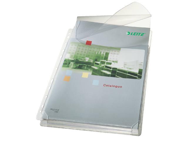 SHOWTAS LEITZ HARMONICA MET KLEP BOVEN A4 PVC