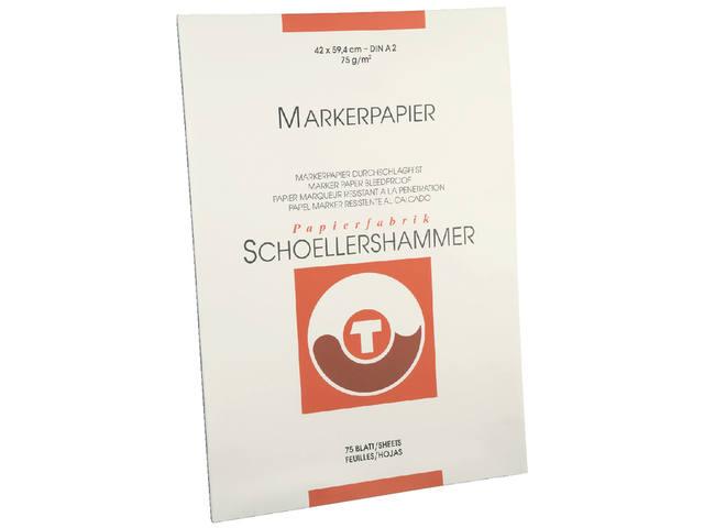 SCHOELLERSHAMMER BLOK MARKERPAPIER A2 75GRAM 75VEL