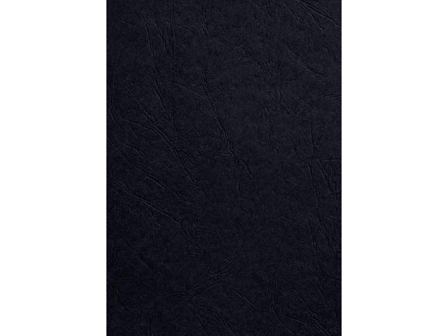 VOORBLAD GBC A4 KARTON LEDERLOOK 250GR ZWART