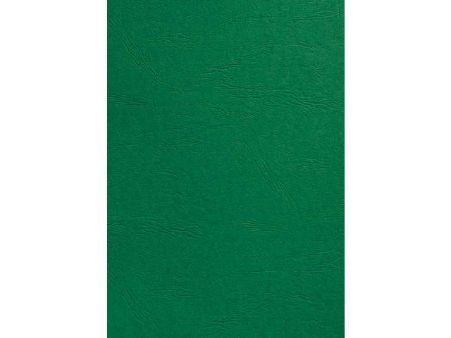 VOORBLAD GBC A4 KARTON LEDERLOOK 250GR GROEN 1