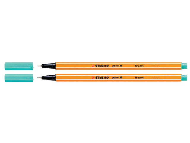 FINELINER STABILO POINT 88/51 TURQUOISEBLAUW