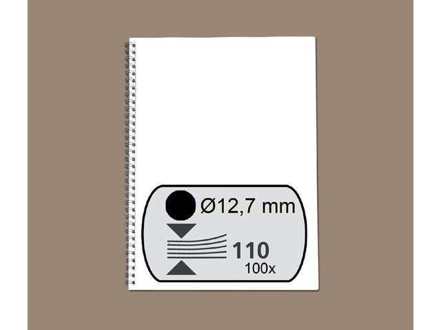 DRAADRUG GBC 12.7MM 34RINGS A4 ZWART
