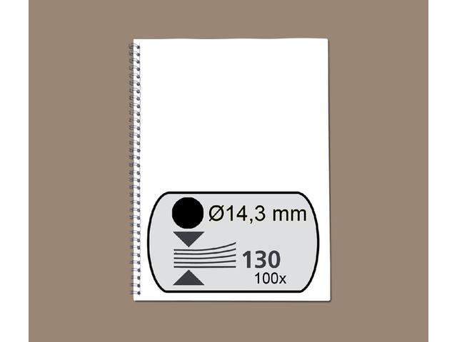 DRAADRUG GBC 14.3MM 34RINGS A4 ZWART
