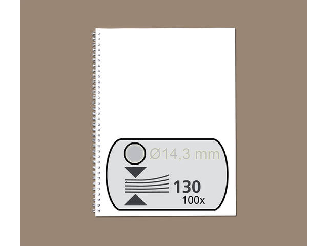 DRAADRUG GBC 14.3MM 34RINGS A4 ZILVER