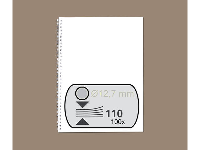 DRAADRUG GBC 12.7MM 34RINGS A4 ZILVER