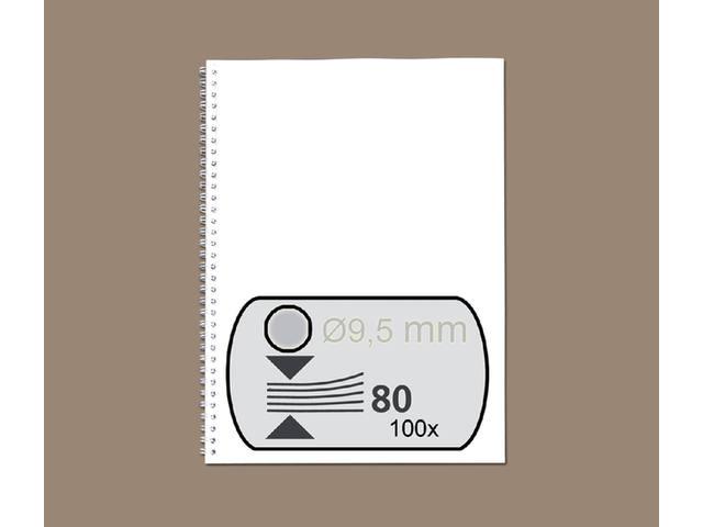 DRAADRUG GBC 9.5MM 34RINGS A4 ZILVER