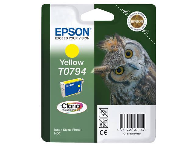INKCARTRIDGE EPSON T079440 GEEL