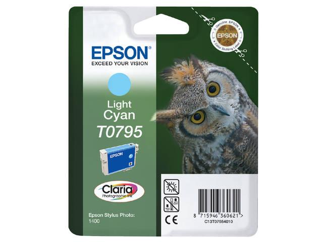 INKCARTRIDGE EPSON T079540 LICHT BLAUW 1