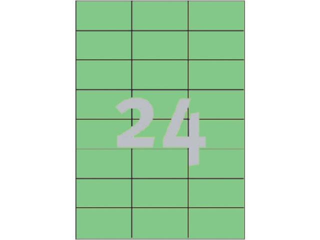 ETIKET AVERY ZWECK 3450 70X37MM GROEN 2400ST 2