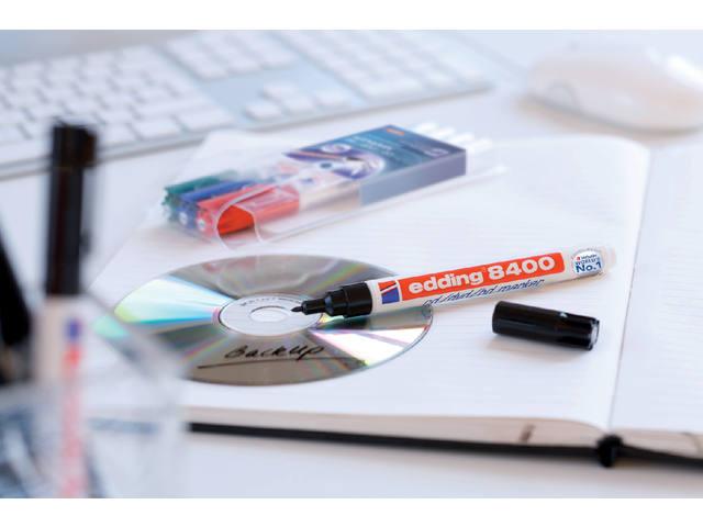 CD MARKER EDDING 8400 ROND 0.5-1MM ZWART 2