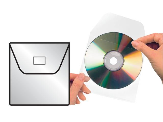 CD HOES 3L 127X127MM MET KLEP NIET ZELFKLEVEND
