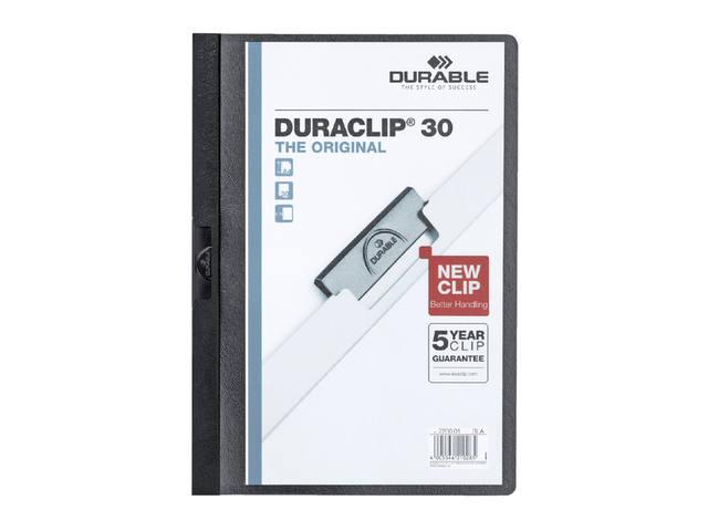 KLEMMAP DURABLE 2200 A4 PL/TR 3MM ZWART