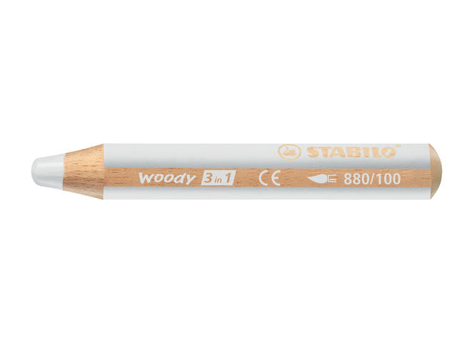 KLEURPOTLOOD STABILO WOODY 880 3IN1 WIT