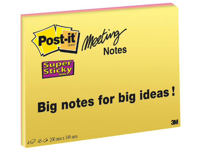 MEMOBLOK POST-IT 6845 149X200MM SS ASS