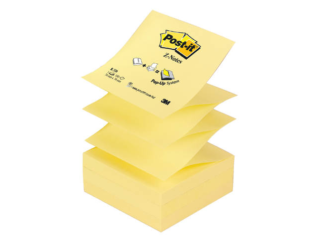 MEMOBLOK 3M POST-IT Z-NOTE R330 GEEL